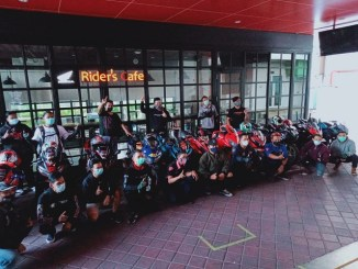 Kopdar NgabubuRide Prokes 2021 Komunitas Honda CBR di MPM Riders Cafe Surabaya.