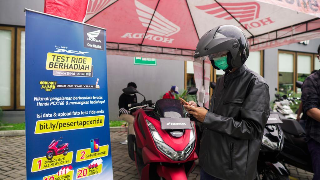 Weleh...uenak poll Test Ride Motor All New Honda PCX Berhadiah Motor di Jawa Timur