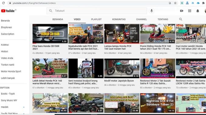 kanal youtube dari setia1heri