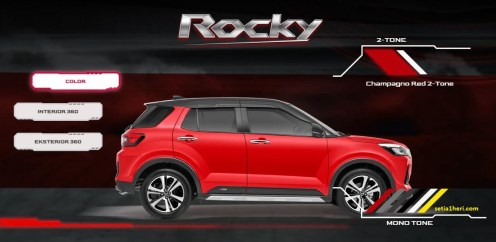 pilihan warna merah hitam daihatsu rocky tahun 2021