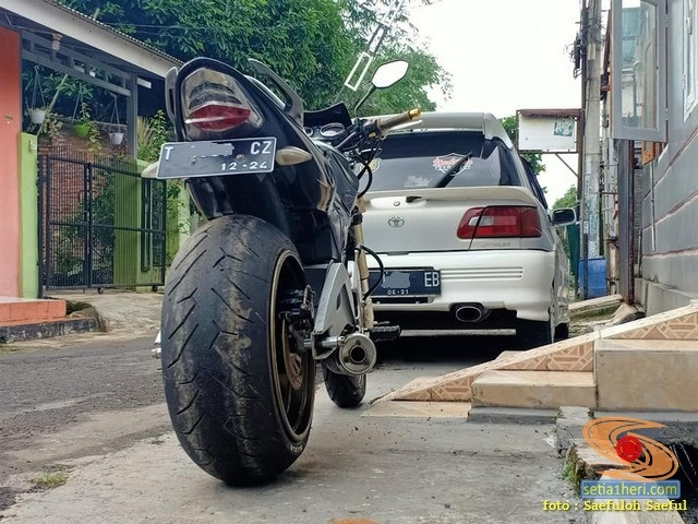 Modif Honda Tiger ban super gambot asal Purwakarta