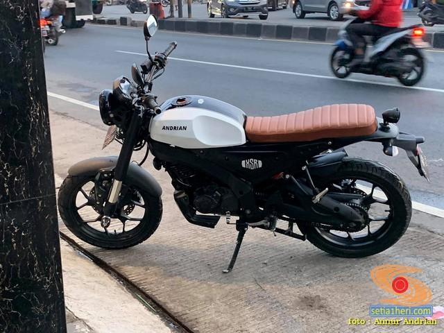 Modif Yamaha Byson seperti Yamaha XSR 155 tapi mesin upgrade 200 cc gans.. (3)