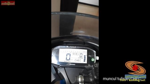 Solusi muncul CHEC di dashboard Suzuki GSX R150