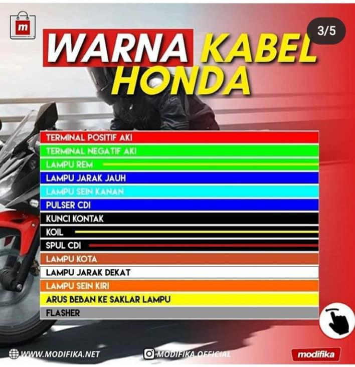 Daftar warna kabel motor Honda, Suzuki, Yamaha dan Kawasaki