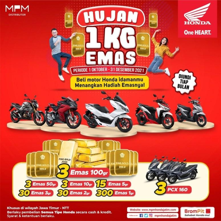 Promo Honda Jawa Timur  Ada Hujan Emas gans...
