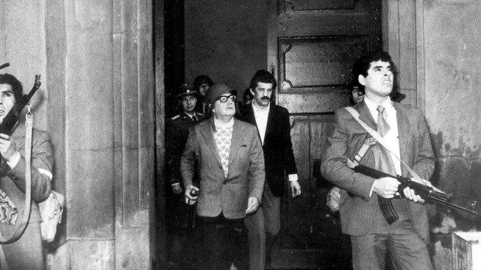 Último registro em imagem do presidente Salvador Allende