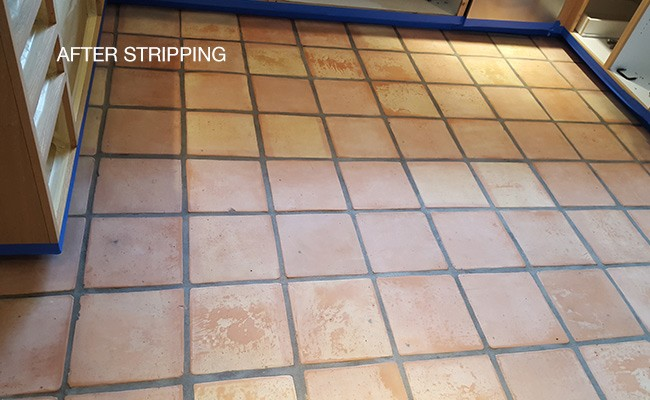 mexican pavers a k a saltillo cleaned