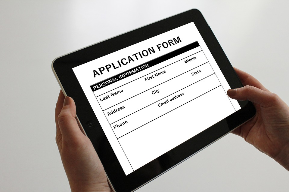 application-form-on-tablet