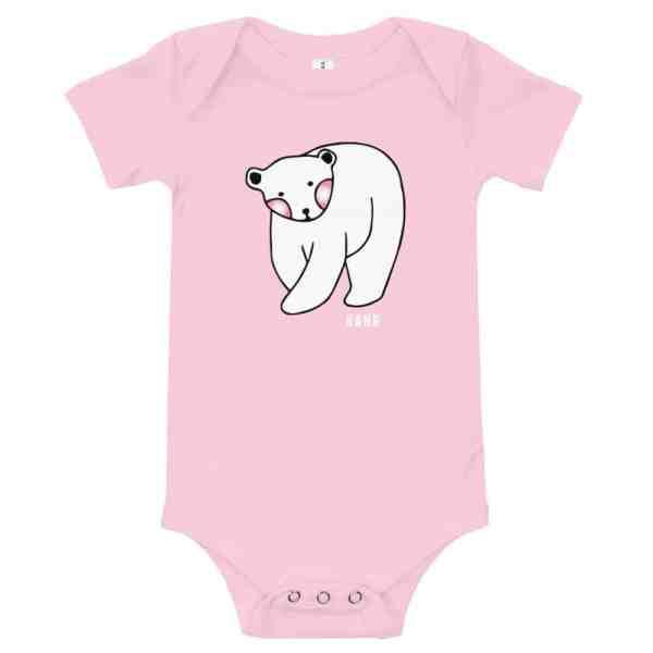baby short sleeve one piece pink 5ff2d2eeaf141