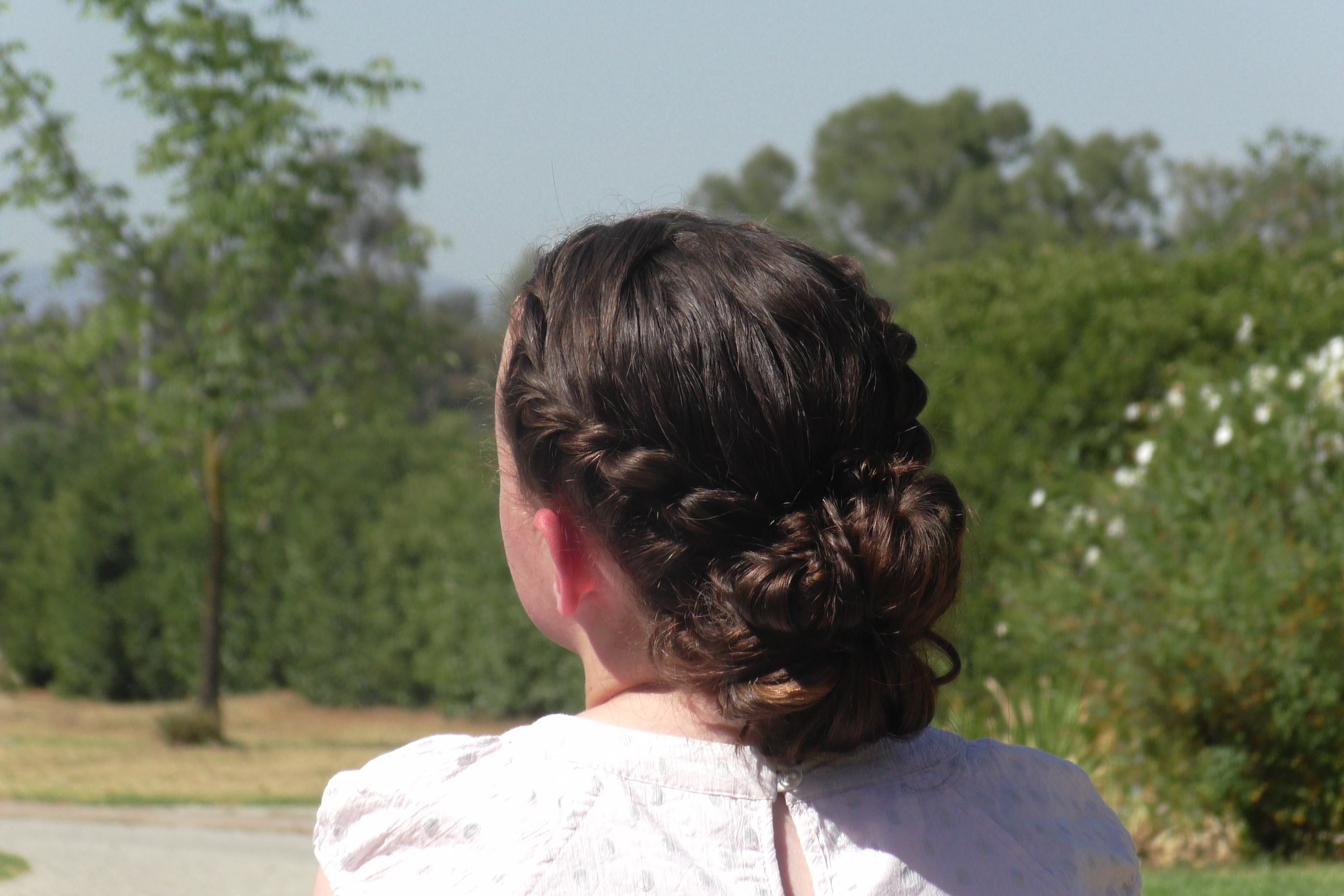 Rope Twisted Messy Bun