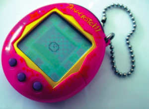 These plastic keychains were placed on backpacks.Photo courtesy of wikipedia.org/wiki/tamagotchi