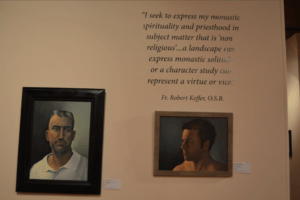 Portrait Study. Fr. Tom Curry' next to 'Portrait Study'. Photo courtesy of Fr. Robert Keffer