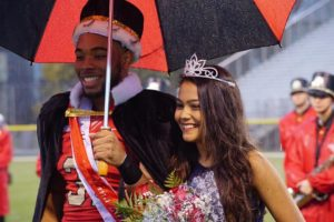 Christian Carter and Dipeeka Bastola after they were crowned king and queen. Congratulations to both, as well as to all members of the court. Photo courtesy of Jacqui Palmer.