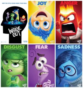 Inside Out, the five personified emotions living in Riley's head.