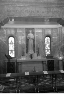 This is the alter where Saint Elizabeth Seton is interred. Photo courtesy by M.Weighart/Setonian