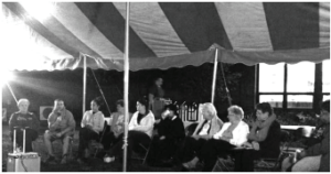 The anniversary celebration begins underneath the tent on Sullivan Lawn. Photo courtesy by M.Weighart/Setonian