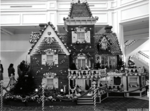 This ginger bread house was designed by Walt Disney World in 2014. Photo courtesy by wcwmagic.com