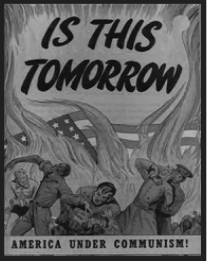 """1950s comic depicting the harm that communism could bring to America. Photo courtesy by """"The Salem Journalism."""""""