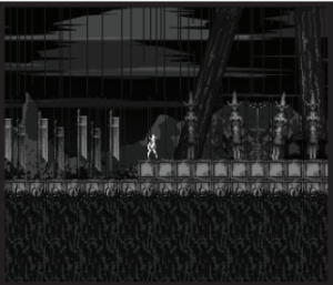 "This is a 2D horror game called ""Gyossait,"" created by Amon26. It was created using the Stency1 game creator. Photo courtesy by newgrounds.com"