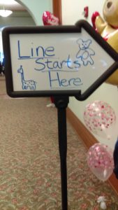 The entrance line sign to the bear making.  Photo by Danisha Rogers