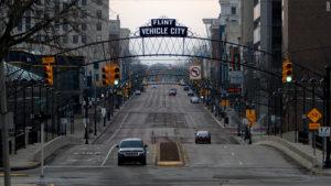 Pictured above is Flint, Mich., which is about 70 miles north of Detroit. Photo courtesy of money.cnn.com