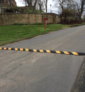 Seton Hill adds a speed bump on campus to ensure safe driving. Photo courtesy of A.Long