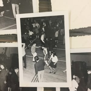 Students from both schools take part in a coed dance. Photo courtesy of the Seton Hill Archives.