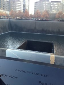 9/11 memorial in New York City. Located at the site of the former World Trade Center. Photo courtesy of C.Arida/Setonian.