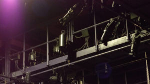 Shown above are some of the many lights set up for the dance concert. Photo courtesy of B.Malley.