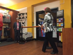 SHU President Mary Finger cuts the ribbon. Photo courtesy of C.Arida.