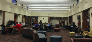 Students prepare for finals week in Reeves Learning Commons. Photo courtesy of H.Carnahan/Setonian.