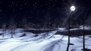 With the moon shining so bright, don't you just love this winter night? Photo courtesy of youtube.com.