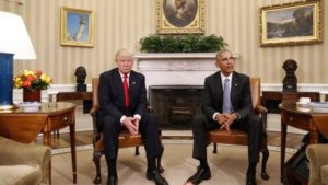 Donald Trump meets with current president Barack Obama. Photo courtesy of BBC.com.