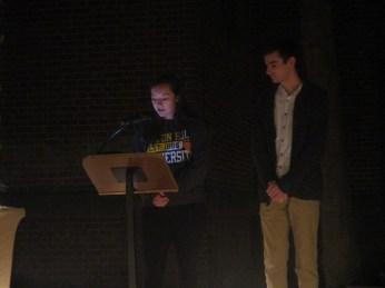 Alex Arp and Harrison Klein present a reading from the Gospel of Luke.