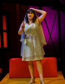 """Amy (Barbara Lawson) contemplates the reasons she does not want to get married in the song """"Getting Married Today"""" during Seton Hill University's production of """"Company"""" from Oct. 19-27."""