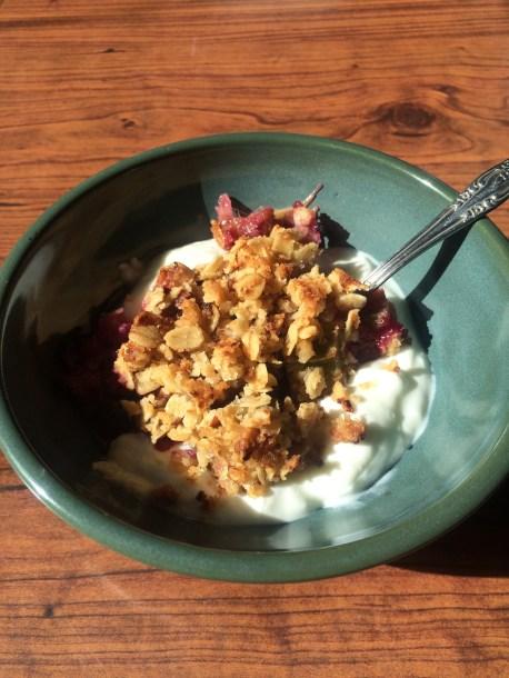 Rhubarb Crisp Breakfast Parfait