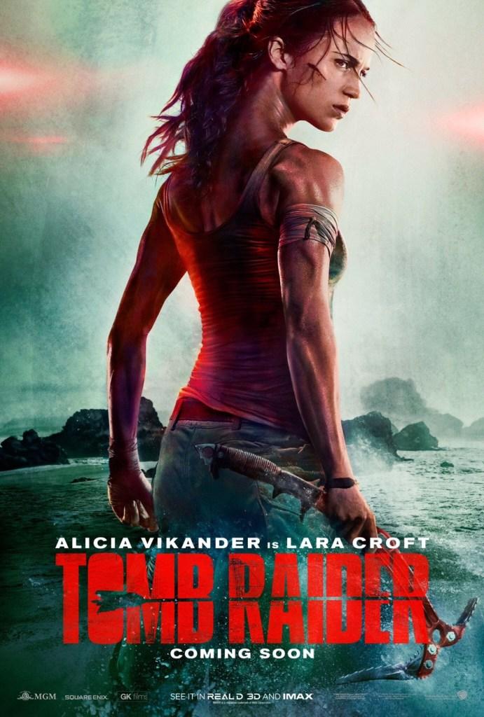 Brand New Poster Of Alicia Vikander In Tomb Raider Set The Tape