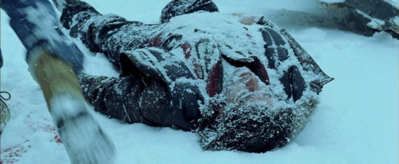 Body lying in the snow