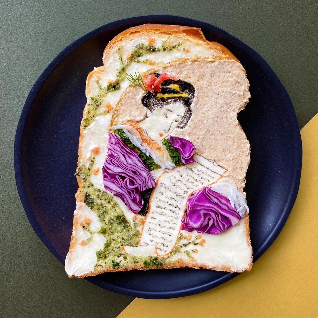 Manami Sasaki Creates Delicious Toast Art for Breakfast