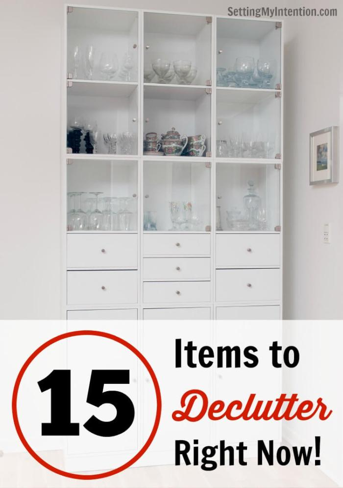 15 items to declutter right now