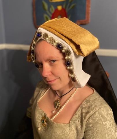 woman in English hood