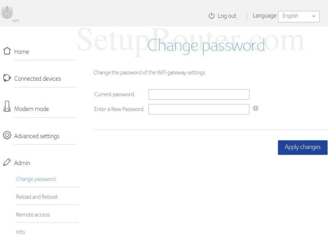 Upc Connect Box Screenshot Changepassword