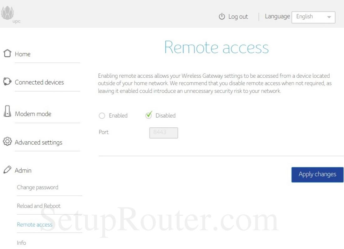 Upc Connect Box Screenshot Remoteaccess
