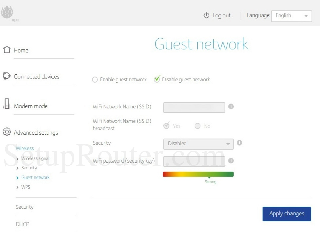 Upc Connect Box Screenshot Wirelessguestnetwork