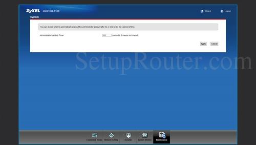 ZyXEL AMG1302 T10B Screenshots