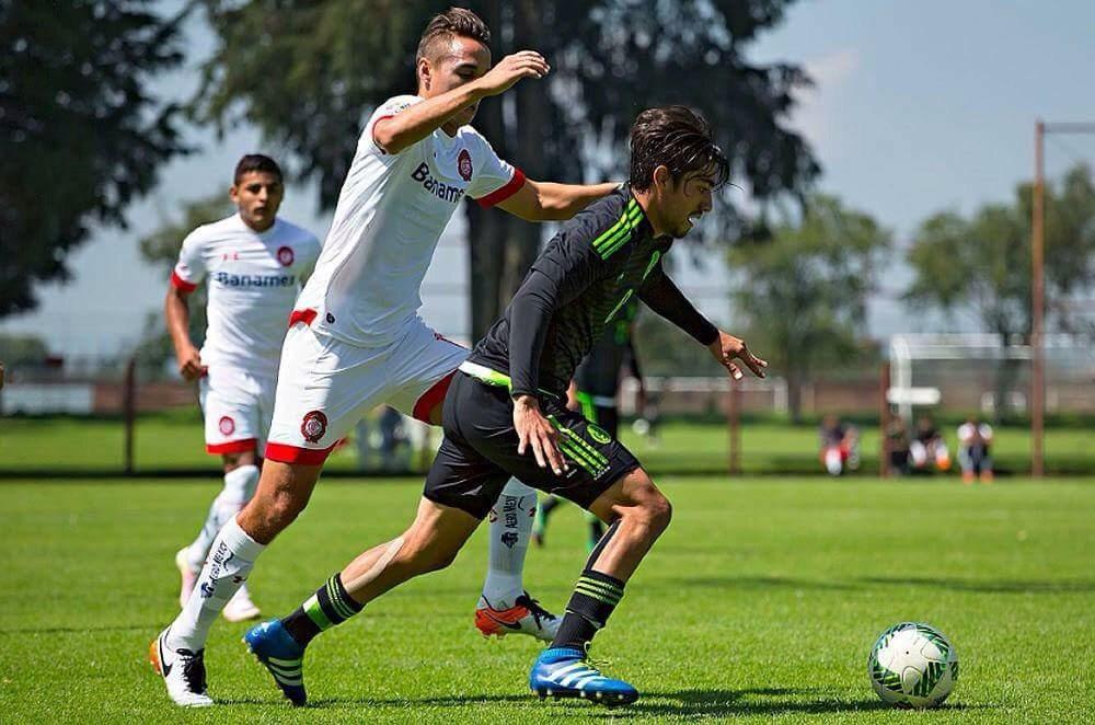 Cae el TRI Olímpico 2-1 ante el Club Toluca