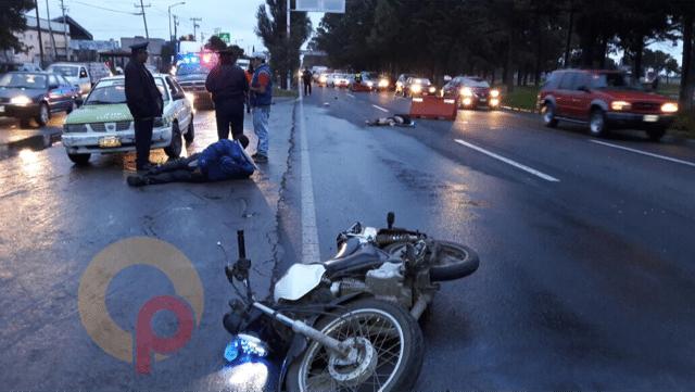 Muere atropellado por motociclista en Toluca