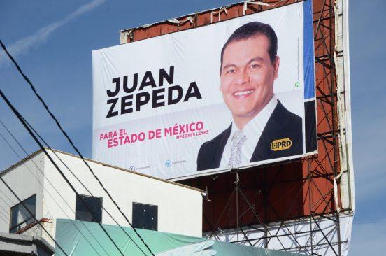 Ordenan el INE a Juan Zepeda retirar propaganda
