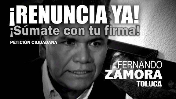 Piden la renuncia de Fernando Zamora en Toluca