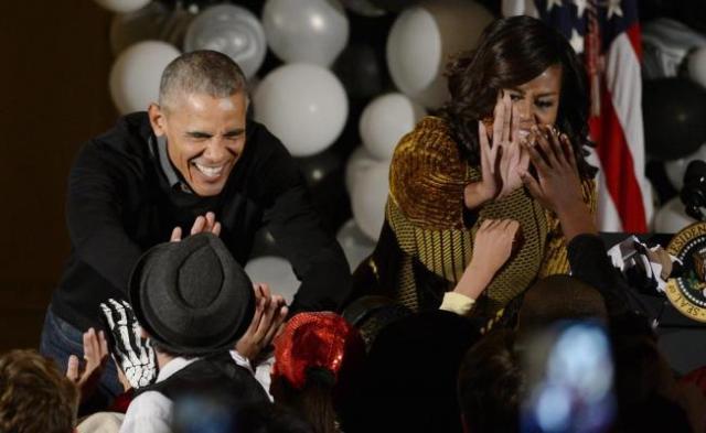 El último Halloween en la Casa Blanca de los Obama